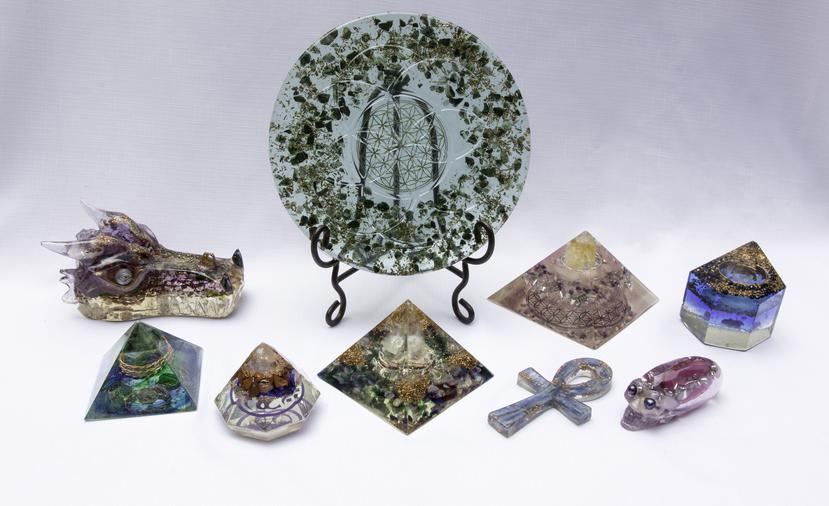 Pyramid Creations produces one-of-a-kind art quality Orgonite products. Orgone attracts, energizes and empowers this natural Chi energy to restore peace and harmony all around us